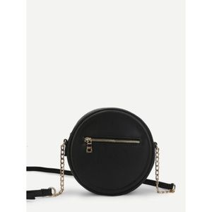 Structured round crossbody bag